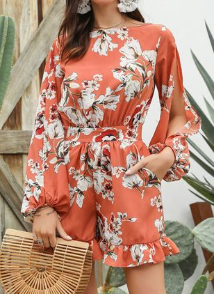Floral Long Sleeve Jumpsuits & Rompers