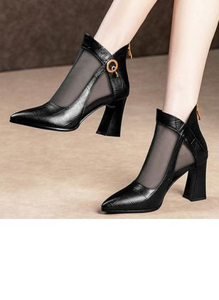 Women's Zipper Closed Toe Others Pumps