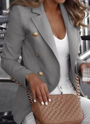 Long Sleeve Lapel Buttons Coats
