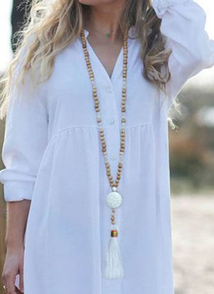 Elegant Tassel No Stone Pendant Necklaces