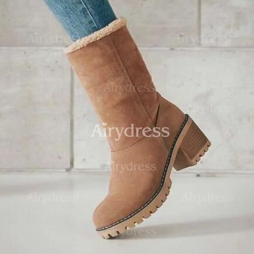 Women Fashion Classic Casual Winter Snow Boots Suede Thicken Keep Warm Boots  Plush Ankle Short Boot Snow Vintage Footwear Shoes Work Shoes Booten Men's Women's  Outdoor Snow Boots Plus Size 35-43 - Airydress